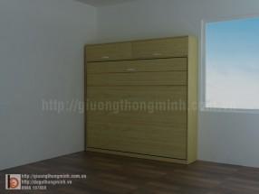 Giường 1m8 gấp ngang gỗ MFC WBT25