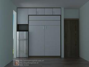 Giường 1,6x2m kết hợp tủ gỗ MFC WBT27