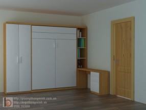 Giường công nghiệp kết hợp tủ, bàn học WBT29